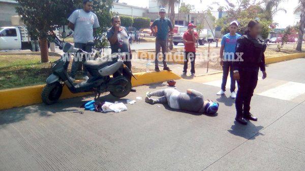 Embiste a motociclista y huye en Zamora