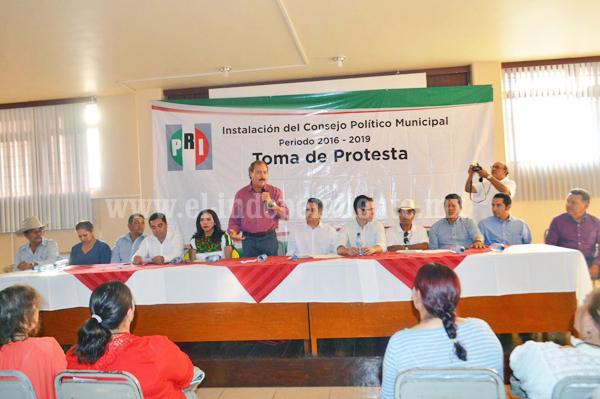 Instalan consejo político municipal del PRI