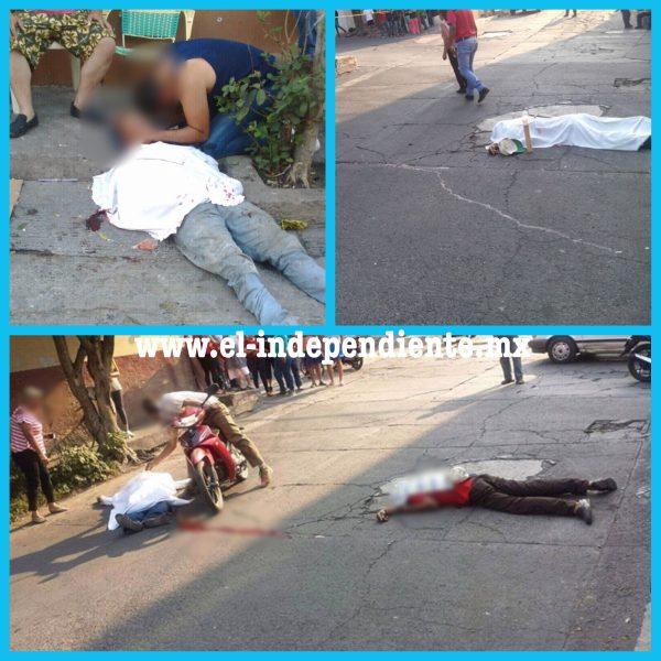 A tiros dan muerte a tres hombres en Sahuayo