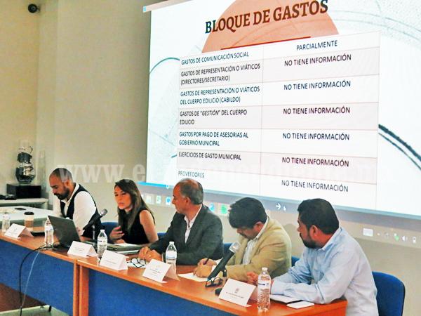 Reprueba ayuntamiento de Zamora en Transparencia