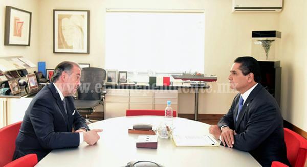 Revisa Silvano Aureoles avances en procuración de justicia con titular de PGR