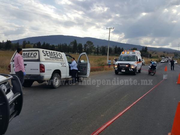 Motociclista perece al accidentarse en la Zamora – La Piedad
