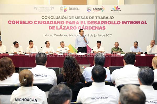 Mejorar las condiciones sociales y de seguridad en Lázaro Cárdenas: Silvano Aureoles
