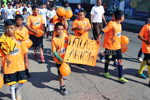 Crean la Liga Infantil de nuevos talentos de futbol en Ario de Rayón