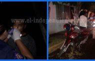 Motociclista se accidenta en la Av. Madero de Zamora