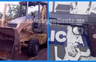 Policías y ladrones de un trascabo se enfrentan a tiros, en Atacheo