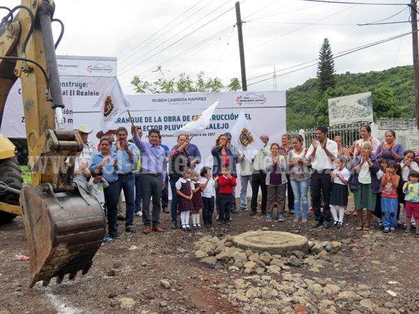 Con más de 2 millones de pesos de inversión, arrancó obra del  colector pluvial El Realejo