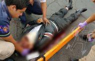 Sexagenario sufre accidente en motocicleta