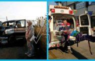 5 comerciantes lesionados al chocar contra un camión en Tangancícuaro