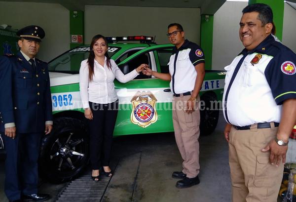 Fortalecen cuerpo de Bomberos, rescate y salvamento de Michoacán