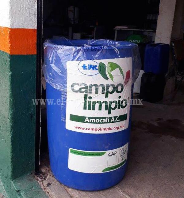Inician recolección de envases vacíos de Agroquímicos
