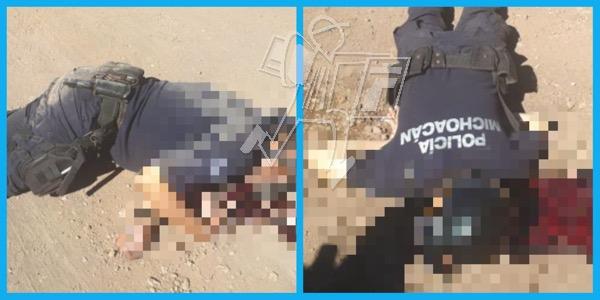 Matan a balazos a dos policías en Tangancícuaro