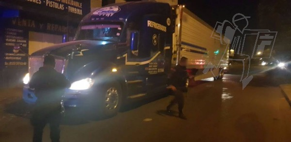 Recupera SSP tractocamión robado en Zamora