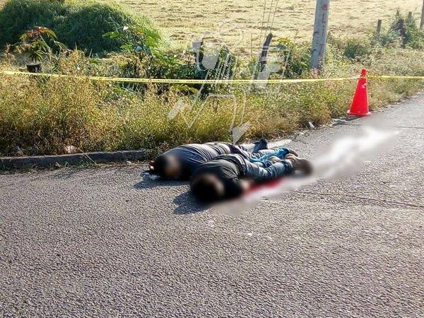 A tiros privan de la vida a dos hombres en Tingüindín