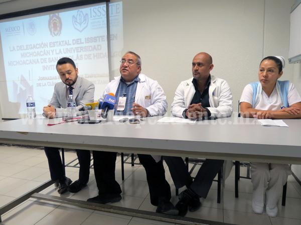 Las XV jornadas médicas y de enfermería  de la clínica hospital del ISSSTE de Zamora