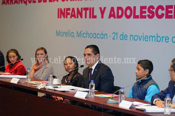 Generar ambiente pleno, con educación y sin violencia para la niñez: Silvano Aureoles