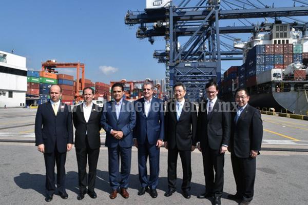 Afianza Silvano Aureoles relación comercial con Hutchinson Port Holdings en China