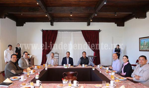Gobernador sostuvo un encuentro con titulares de los organismos autónomos de Michoacán