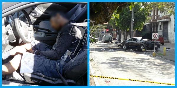 A balazos, conductor de Camaro es asesinado en Jacona