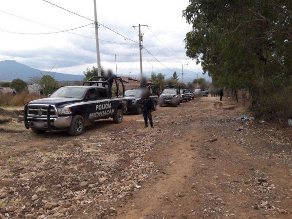 Libera Policía Michoacán a persona privada de la libertad y captura a 6 implicados en Tangancícuaro