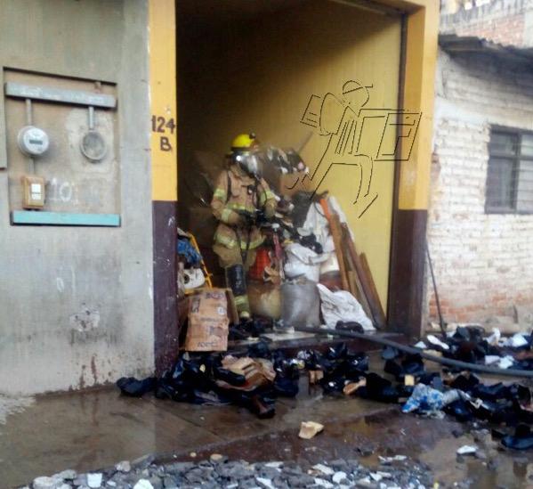 Arde bodega en la Valencia Segunda Sección