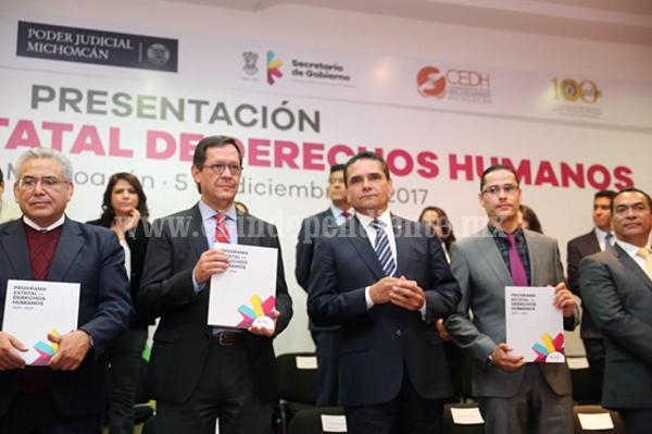 Por primera vez Michoacán cuenta con un Programa Estatal de Derechos Humanos