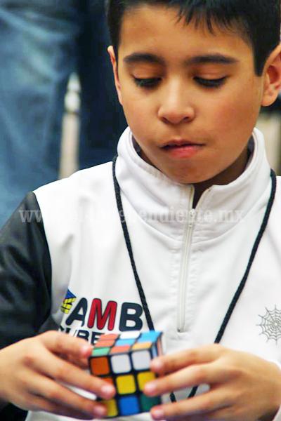 Por primera ocasión Zamora fue sede de la competencia oficial de cubo de rubik