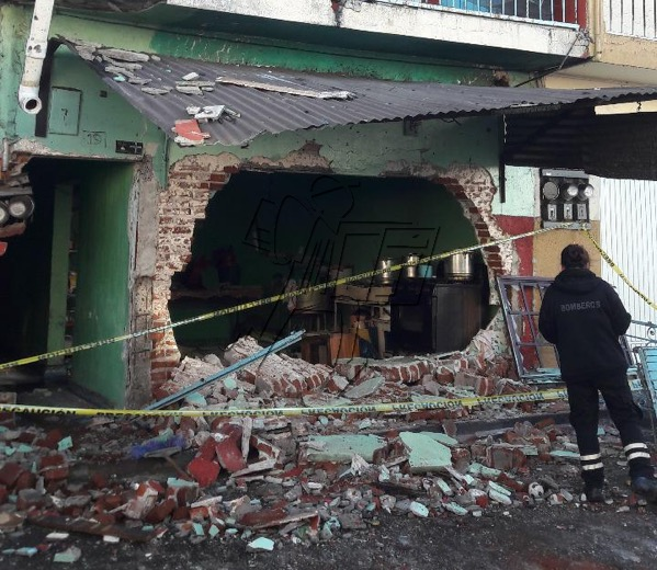 4 lesionados al explotar una cenaduría hay cuatro lesionados, en Los Reyes