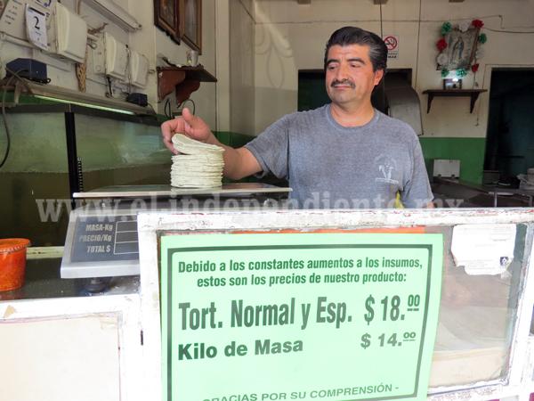 Subió precio de tortillas, primer golpe duro para la canasta básica