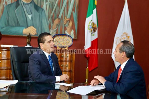Sostiene Gobernador reunión con titular de la ASM