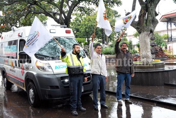 Gobierno del estado donó a Jacona una ambulancia equipada para  servicios de emergencia