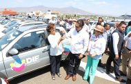 Cumple Gobernador Silvano Aureoles con DIF Municipales; entrega 113 camionetas de apoyo
