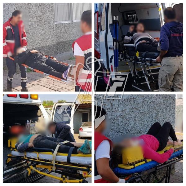 Accidente deja cinco maestras lesionadas