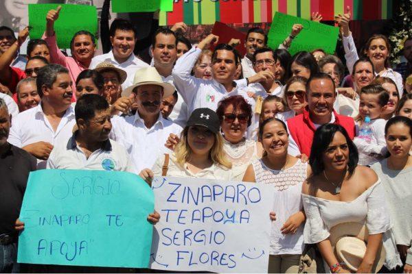 Inició Sergio Flores campaña en Zamora