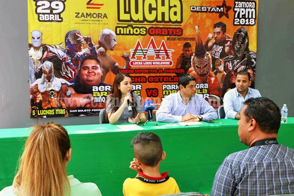 La niñez zamorana podrá disfrutar la función de lucha libre por Día del Niño totalmente gratis