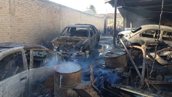 Se quema taller en Zamora