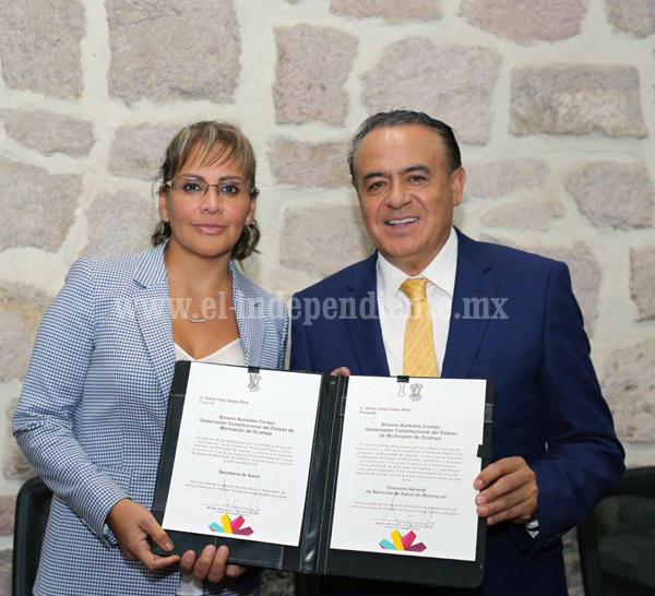 Asume Diana Carpio como secretaria de Salud en Michoacán