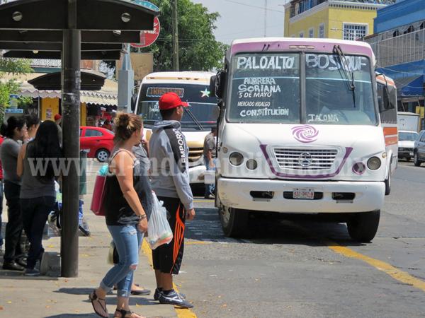 Transportistas presentan propuesta de incremento en tarifa de pasaje