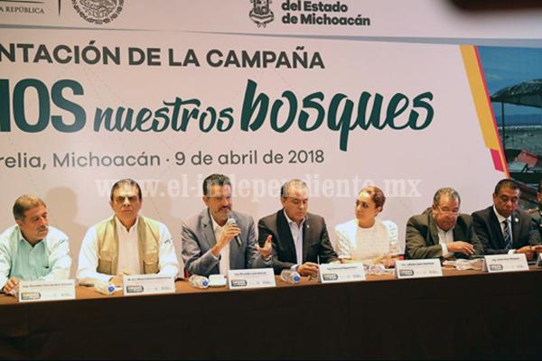 """Inicia """"Cuidemos nuestros bosques"""", campaña contra incendios forestales en Michoacán"""