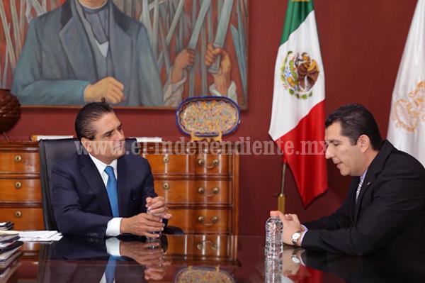 Recibe Gobernador a fiscal anticorrupción