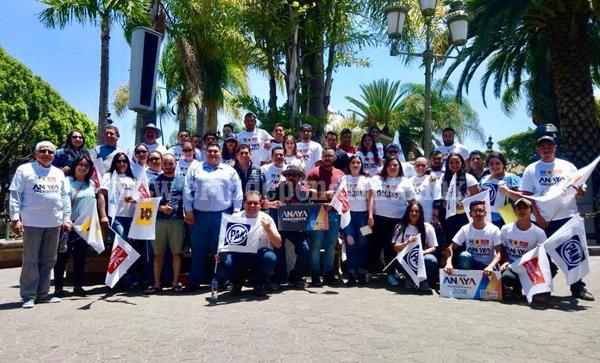 Inicia campaña a favor de Ricardo Anaya en Tangancícuaro