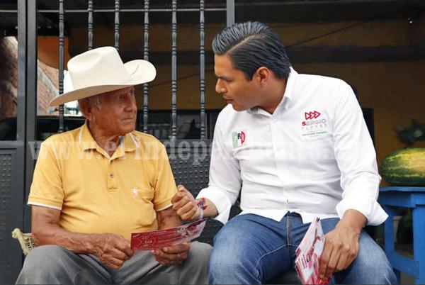 Velaré por los derechos de los adultos mayores: Sergio Flores