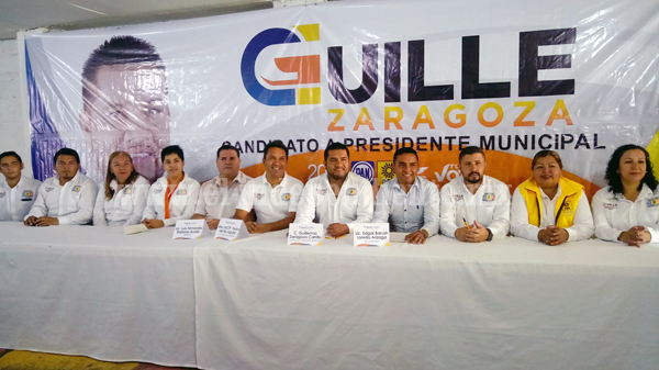 Llamó Guille Zaragoza a sus contrincantes a firmar un pacto de civilidad
