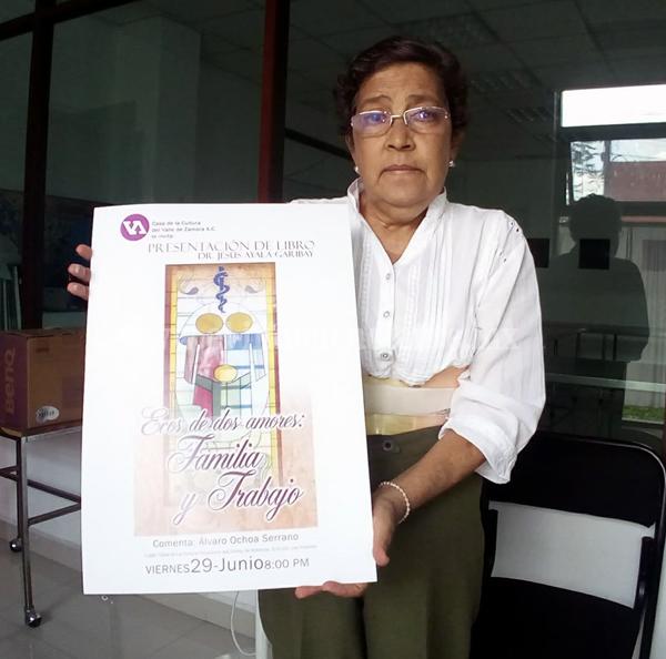 """Casa de la Cultura presentará el libro """"Ecos de dos amores: familia y trabajo"""""""