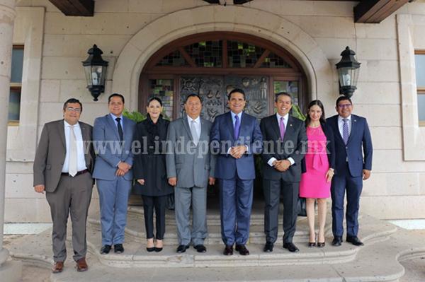 Sostiene Gobernador reunión con magistrados del TJAM