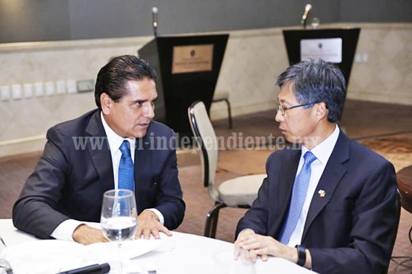 Promueve Gobernador ante Corea del Sur oportunidades de inversión en Michoacán