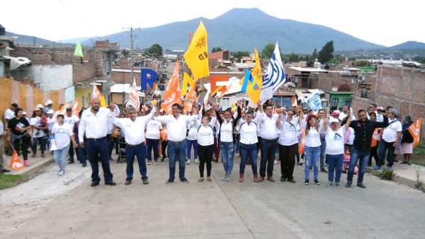 Avanza Rafa Melgoza en la recta final del proceso electoral
