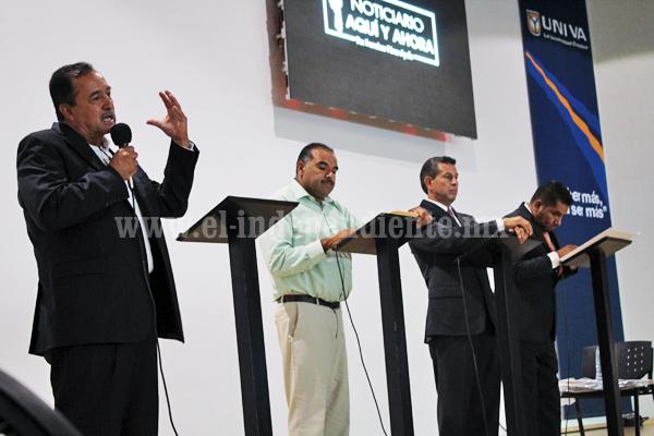 Arrolló Emiliano Cabrera en debate de candidatos jaconenses