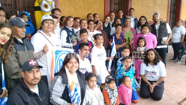 Judith Acevedo hizo su último día de campaña en la comunidad de Chaparaco