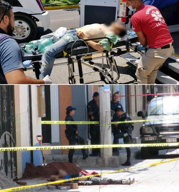 Un muerto y un lesionado deja ataque a balazos en el Centro de Jacona